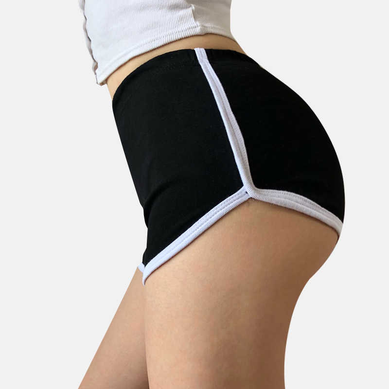 Spor şort kadın yaz yeni şeker renk Anti boşaltılmış sıska rahat bayan elastik bel plaj Correndo kısa pantolon