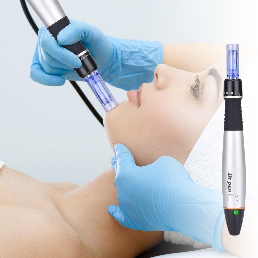 Electric Microneedling Derma Pen A6 Stamp Professional Beauty Equipment Dr Pen Tattoo Gun  Skin Care Anti-Aging Tool Cartridge