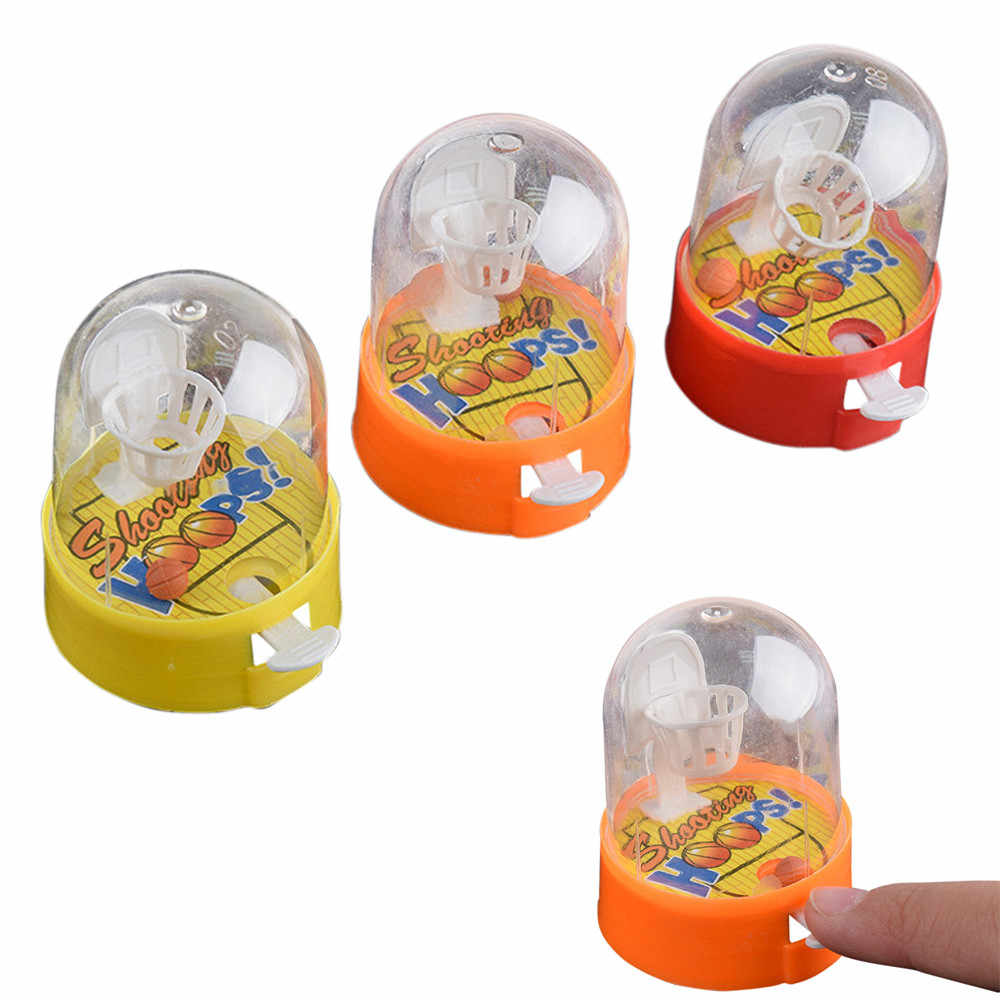 Kids Mini Handheld Palm Basketball Machine Anti-stress Player Toys Play Balls Game with Shooting Baby Finger Balls Child Puzzle
