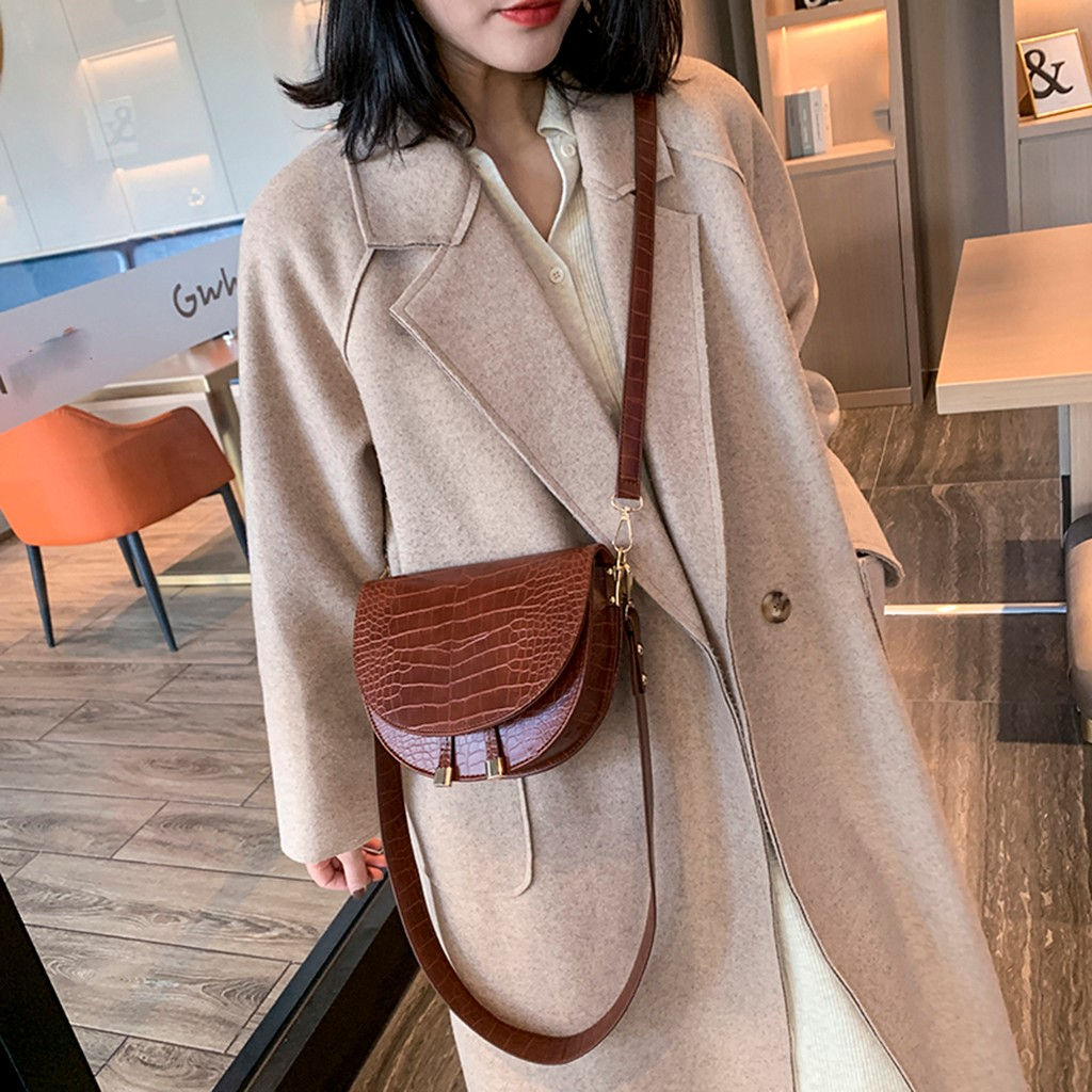 Ladies Crossbody Bags For Women Alligator 2019 New Fashion Plush Satchel Casual Wild Simple Shoulder Messenger Bag Bolso Hombre