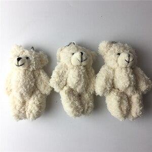 Image 5 - Kawaii קטן משותף טדי דובים ממולא בפלאש עם שרשרת, 12CM צעצוע טדי דוב מיני דוב טד דובים בפלאש צעצועי מתנות