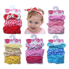Bowknot Headband Hair-Accessories Ear-Turban Floral Elastic Girls Baby Princess Cotton