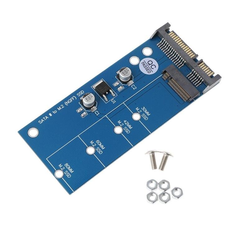 "M2 NGFF  SSD To 2.5"" SATA 3 Adapter Card Expansion Card Adapter SATA To NGFF Converter 6"