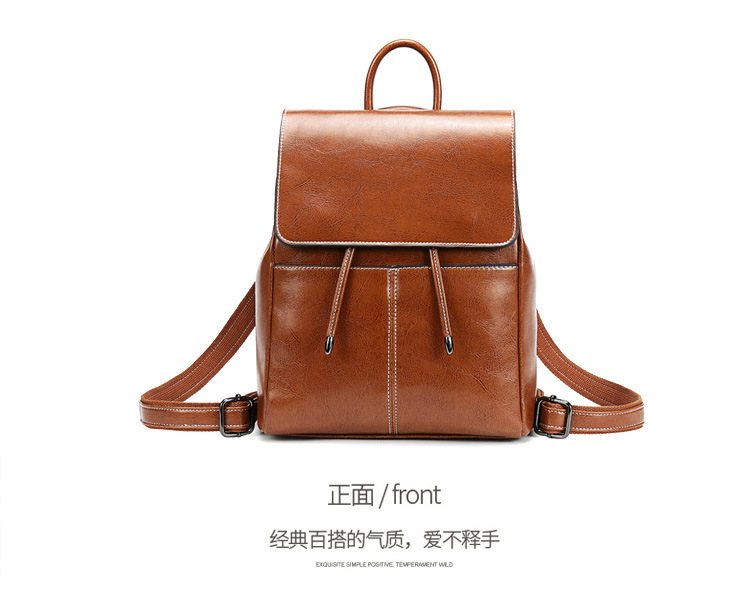 luxury High Quality Genuine Leather Backpack Women 2020 New Travel Knapsack Female Shoulder Bag Cowhide Girls Casual Daypack