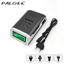 PALO 100% Original 4 fentes LCD affichage Intelligent chargeur de batterie pour AA AAA NiCd NiMh Batteries rechargeables charge rapide