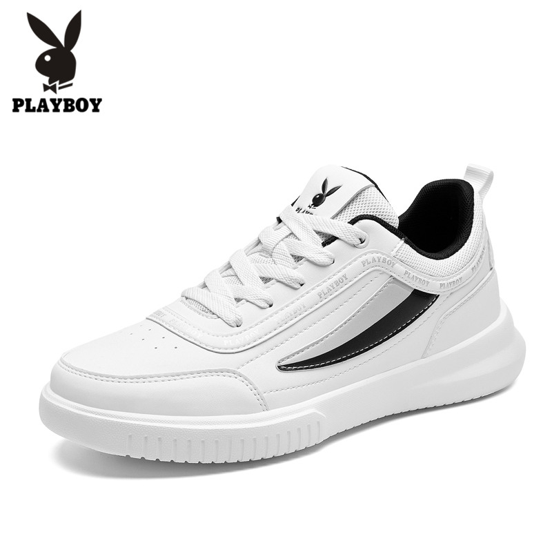 PLAYBOY New Footwear Fashion Men's Casual Shoes Spring & Autumn Male Shoes Men PU Leather Shoes Men Flats Zapatillas PL821004