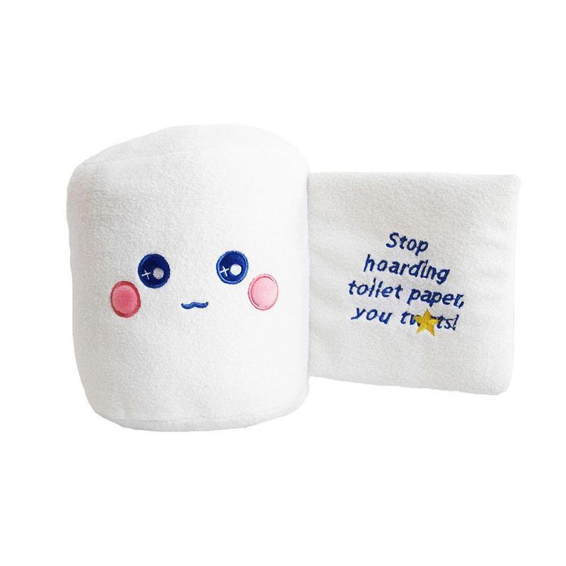 Creative Toilet Paper Plush Toys Pillow Toilet Paper Modeling Dolls Funny Cushion Gift