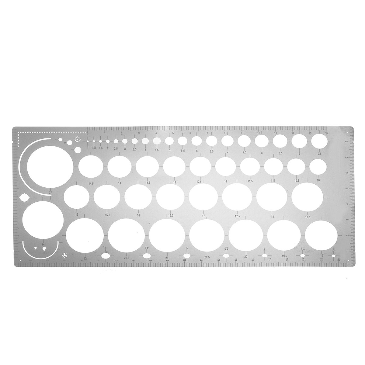 Metal Photo Etched Tool Scribing Panel Modeling Template Engraved Forming Line Board Etched Template Model Craft Tools Supplies