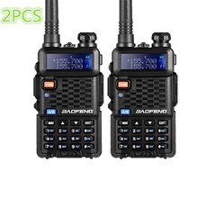 2PCS BaoFeng F8+ Upgrade Walkie Talkie Police Two Way Radio Pofung Dual Band Outdoor Long Range VHF UHF Ham Transceiver