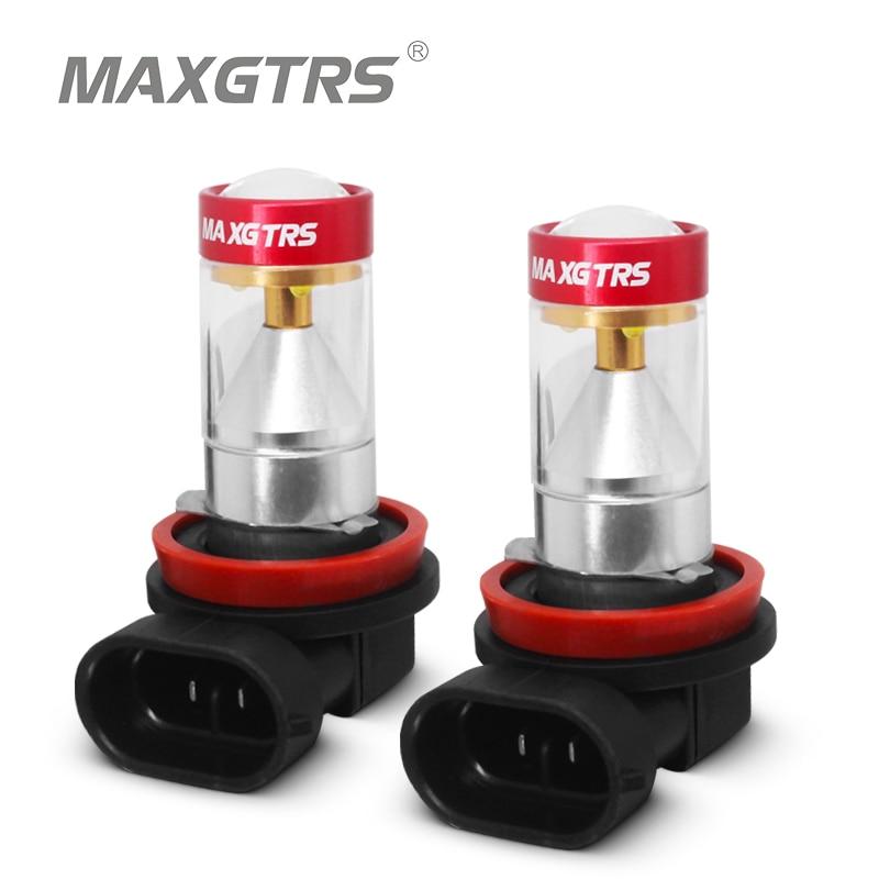 2x 1500lm H1 H3 H7 H8 H11 9005 HB3 9006 HB4 H16 Led Car Fog Bulb Light Auto Leds Light Driving Running Lamp With Lens 6000K