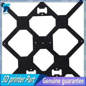 Image 5 - Klon orijinal Prusa i3 MK3S 3D yazıcı parçaları alüminyum alaşımlı çerçeve Y arabası ön arka plaka + alüminyum siyah profil kiti