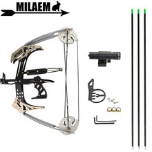 25lbs Archery Mini Compound Bow Set 23inch Triangle Bow Arrows Laser Sight Hunting Shooting Fishing Accessories