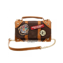 Hot Movie Harrio Cosplay Party Show Magic Potter School PU Bag Toy Girl Halloween Gift Badge Suitcase Shoulder Toys