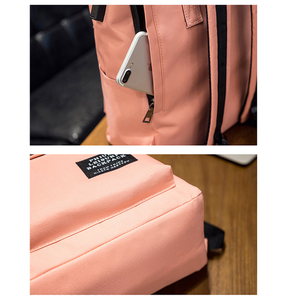 H1841ebfea5bb48d9ad7000b95b335420P TTOU Women External USB Charge Backpack Canvas School Backpack Mochila Escolar Girls Laptop Backpack