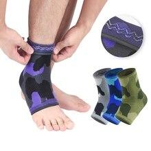 1 шт поддержка лодыжки печатные Дышащие анти-растяжение трикотажные компрессионные ноги защитный рукав спортивные пятки покрытия носки