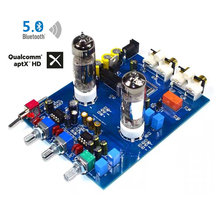 6J5 NE5532 Bluetooth 5.0 ses tüp amplifikatör kurulu tiz bas ekolayzır aptx QCC3008 ön amplifikatör preamplifikatör