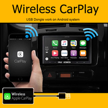 Für Apple Wireless Carplay Dongle Android Navigation Player Mini USB Adapter Stick AndroidAuto Radio