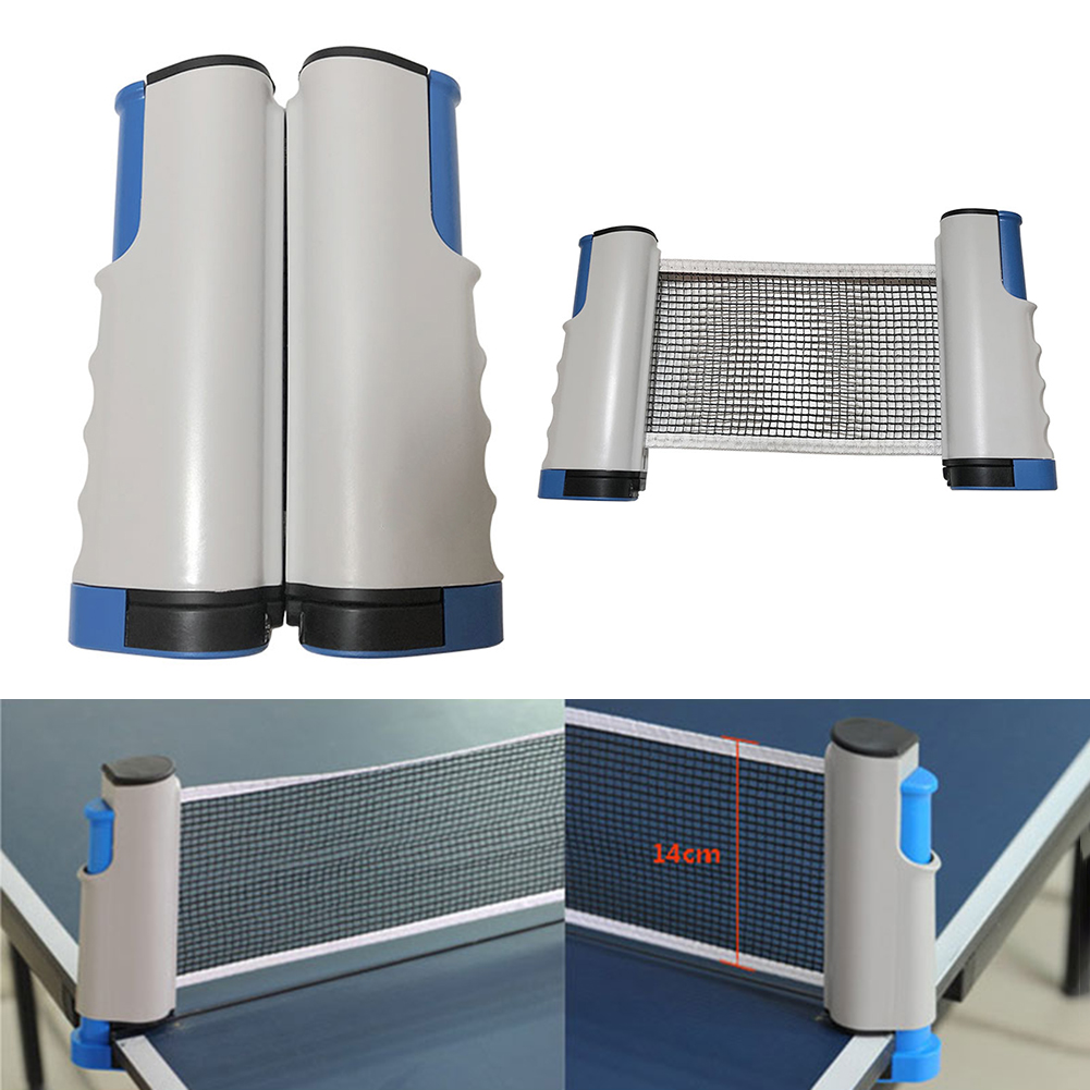 Retractable Table Tennis Net Portable Anywhere Retractable Ping Pong Post Net Rack For Any Table Tennis Accessories Equipment