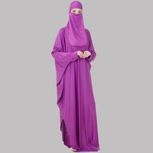 Prayer Outfit Niqab-Set Jilbab Islam Muslim Abaya Khimar Women Saudi with Face-Veil Headcover