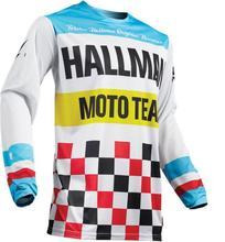 цена на 2019 Racing New Motocross jersey moto Racing Kinetic Crux Youth Motocross MX Jersey Off Road Enduro Junior cycling jerseys