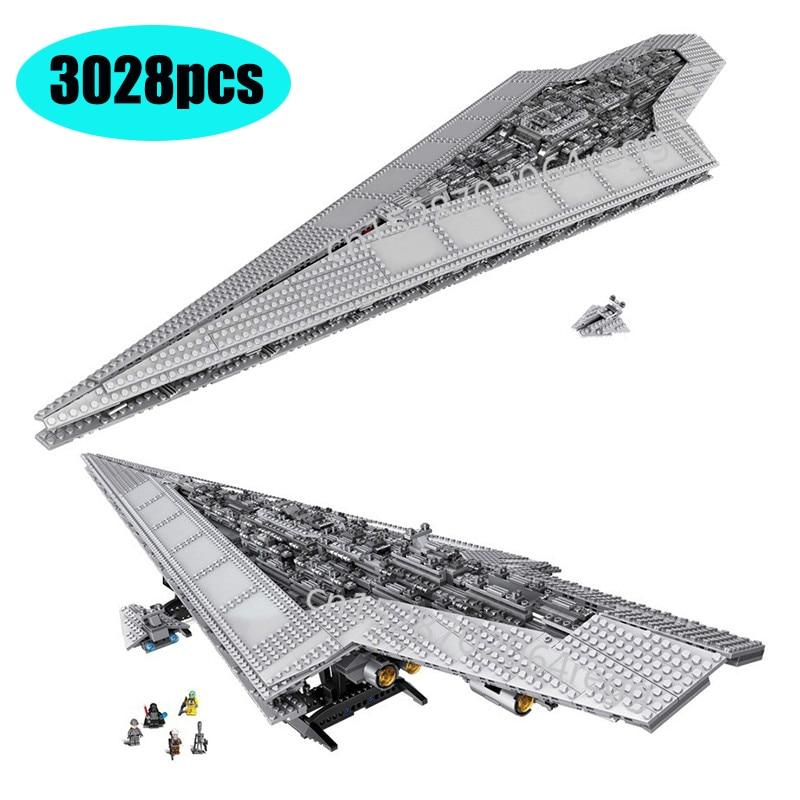 DHL 3208pcs lepining 05028 Starset Wars Executor Super Star Destroyer Model Building Kit Block Bricks Toys Kids Gifts 10021