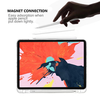 protective tpu For iPad Pro 12.9 Inch 2020 Case Transparent Soft TPU Anti-scratch Protective Clear Cover For iPad Pro 12.9 2020 Case Pen Holder (3)