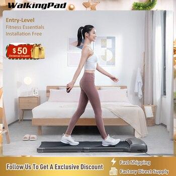 WalkingPad C1 cinta de correr electrica plegable Aparatos de entrenamiento plegables Smart Electric Walk Machine Aerobic Exercise Home Sports Fitness Equipment Xiaomi Ecosystem blanco gris