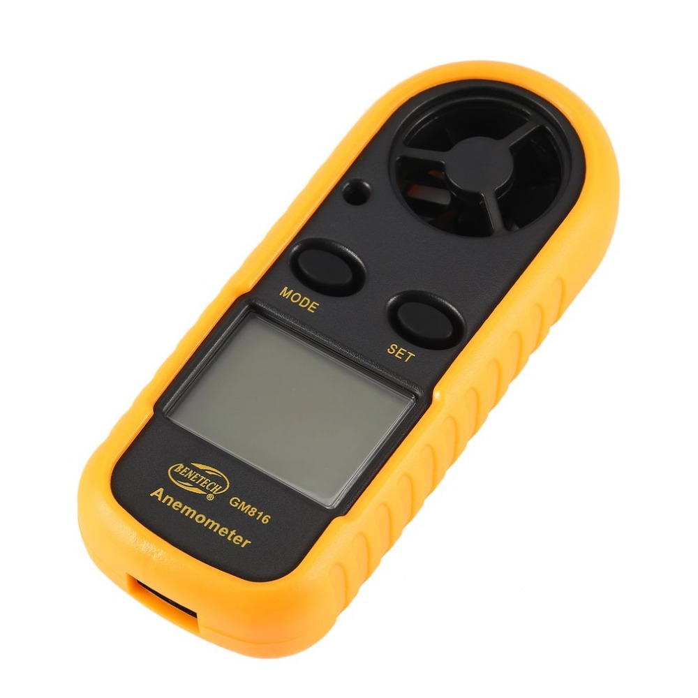 BENETECH GM816 Digital Anemometer Thermometer Wind Speed Air Velocity Airflow Temperature Gauge Windmeter With LCD Backlight