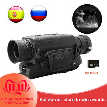 5X40 Digital Night Vision Monocular Infrared 940NM Night Vision Hunting Scope with 8G TF Card Free Ship - DISCOUNT ITEM  12% OFF Sports & Entertainment