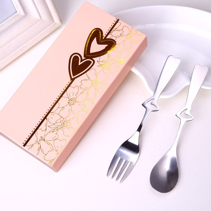 Kitchen Spoon Sets Tableware & fruit fork stainless steel gift set Christmas figurines accessories dessert fork Wedding Gift|Spoons| |  - title=