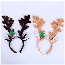 Оленьи рожки на ободке рога Косплэй в виде оленьих рогов и Рождество с рогами оленя, повязка на голову, одежда на Рождество аксессуары для волос на Рождество предложения