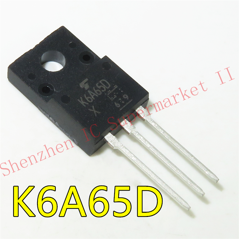 <font><b>K6A60D</b></font> TK6A60D 6A 600V MOSFET TO-220F plastic N channel new original Immediate delivery image