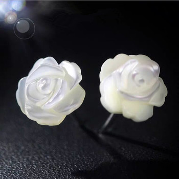 100% 925 Sterling Silver Elegant Pearl Flower Ladies Stud Earrings Jewelry Promotion Gift Women Birthday Drop Shipping 2020 New 100% 925 sterling silver fashion butterfly ladies tassels stud earrings jewelry women anti allergy christmas gift drop shipping