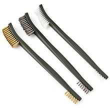 3 Mini Wire Brush Set Steel Brass Nylon Clean Polished Metal Rust Proof Tool Cleaning Polishing Details