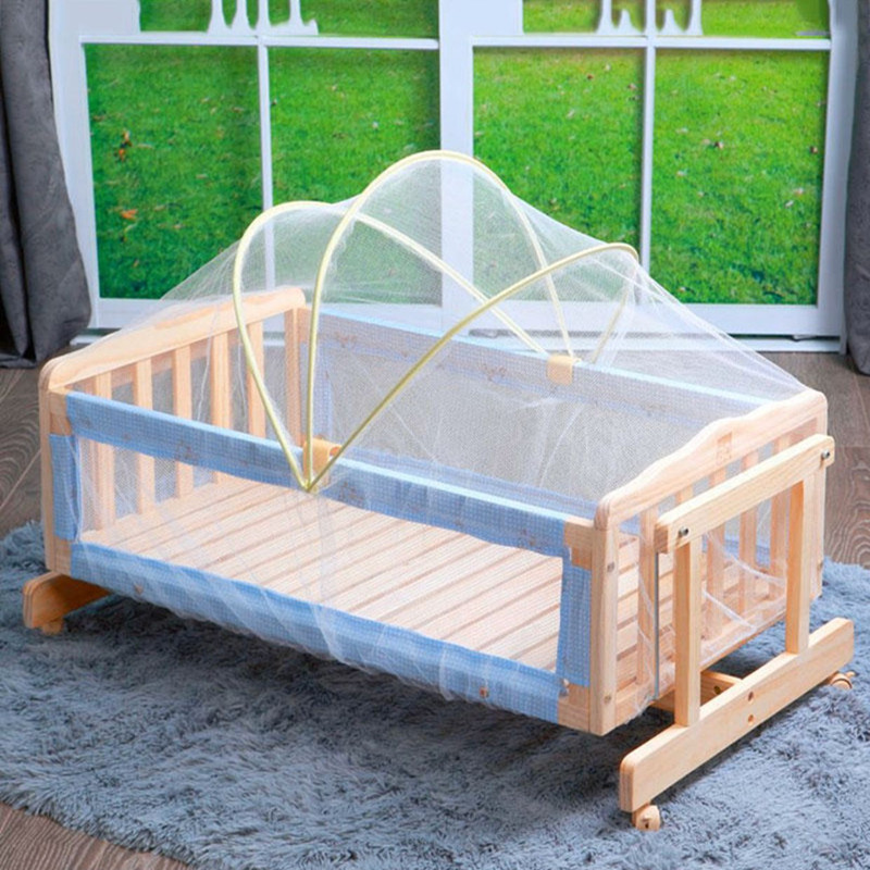 Universal Baby Cradle Bed Mosquito Nets Summer Baby Safe Arched Mosquitos Net  100cm*60cm