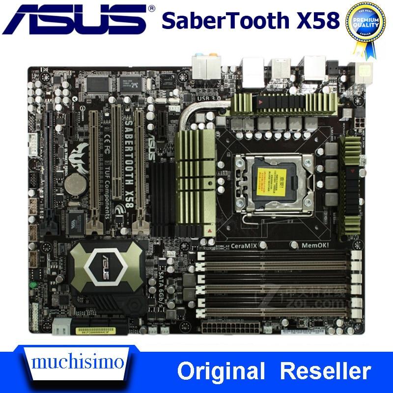 LGA 1366 ASUS SaberTooth X58 Motherboard Cpu i7 Extreme/Core i7 DDR3 24GB Intel X58 LGA 1366 Original Desktop Used Mainboard