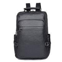 Men Bagpack Real Leather Large Schoolbag Laptop Backpack Black Bag 2752A