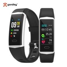 Gandley b5 gps pulseira inteligente relógio de saúde das mulheres dos homens pulseiras esportes bluetooth 5.0 pulseira de fitness ip68 banda inteligente