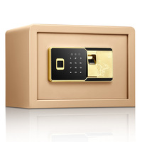 Fingerprint Password Safe All Steel Small Home Office Safe 25Cm Fingerprint Electronic Password Safe Home Small Safe