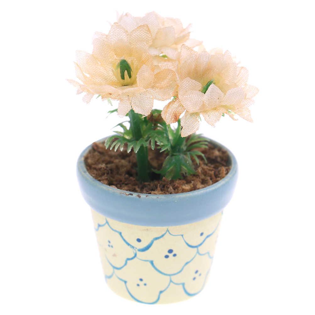 1/12 Dollhouse Miniature Verde Mini Albero In Vaso Per Il Verde Pianta In Vaso di Mobili Casa di Bambola Complementi Arredo Casa simulazione Piante In Vaso