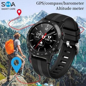 SMAWATCH M5 Smart Watch Smartwatch GPS Bluetooth Calling Compass Barometer Altitude Outdoor Smartwatch Smart Watch Men Women