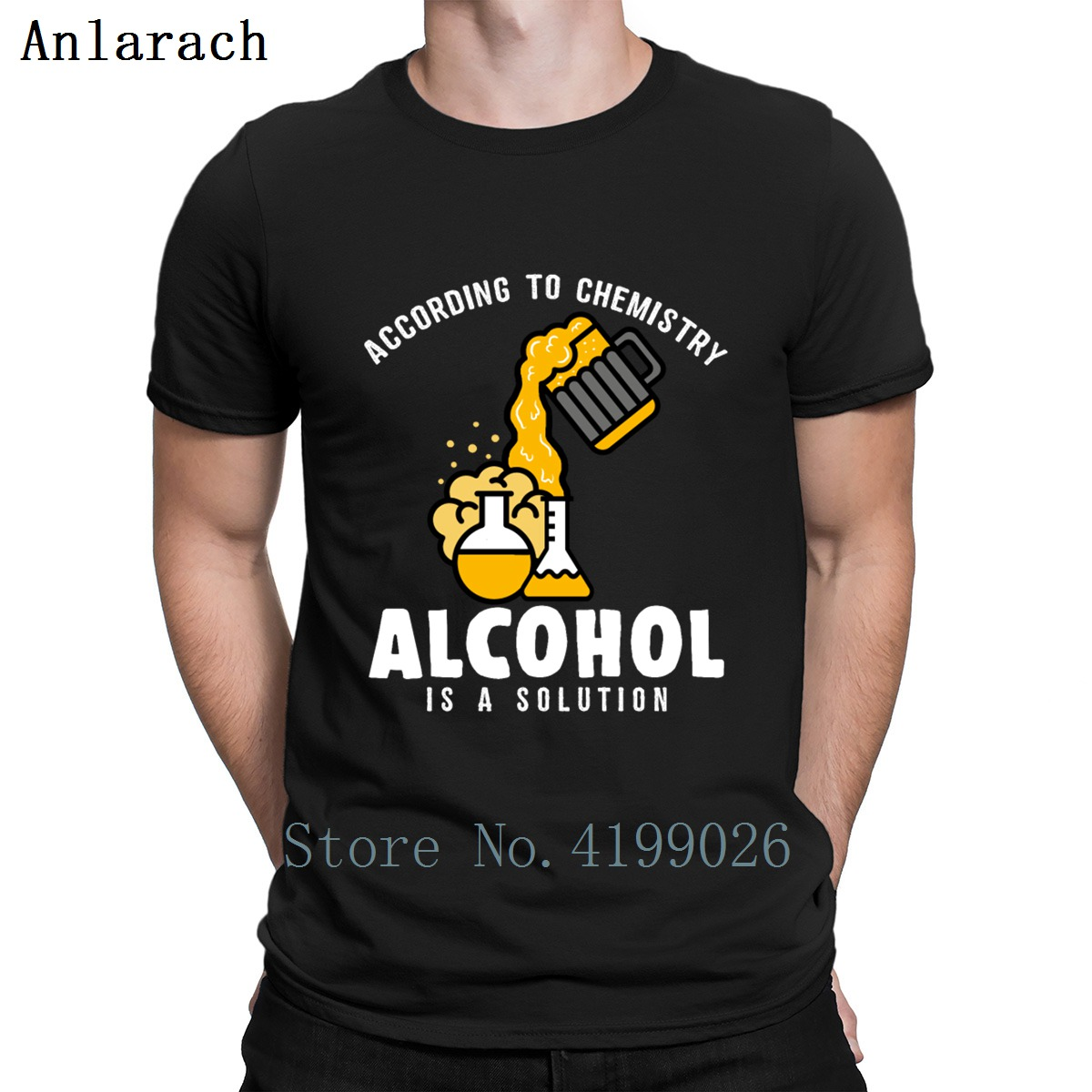 Funny Chemistry Alcohol Pun Science Teacher T Shirt Great Creative Short Sleeve Hip Hop Shirt Cheap Sale Sunlight Hiphop Top image