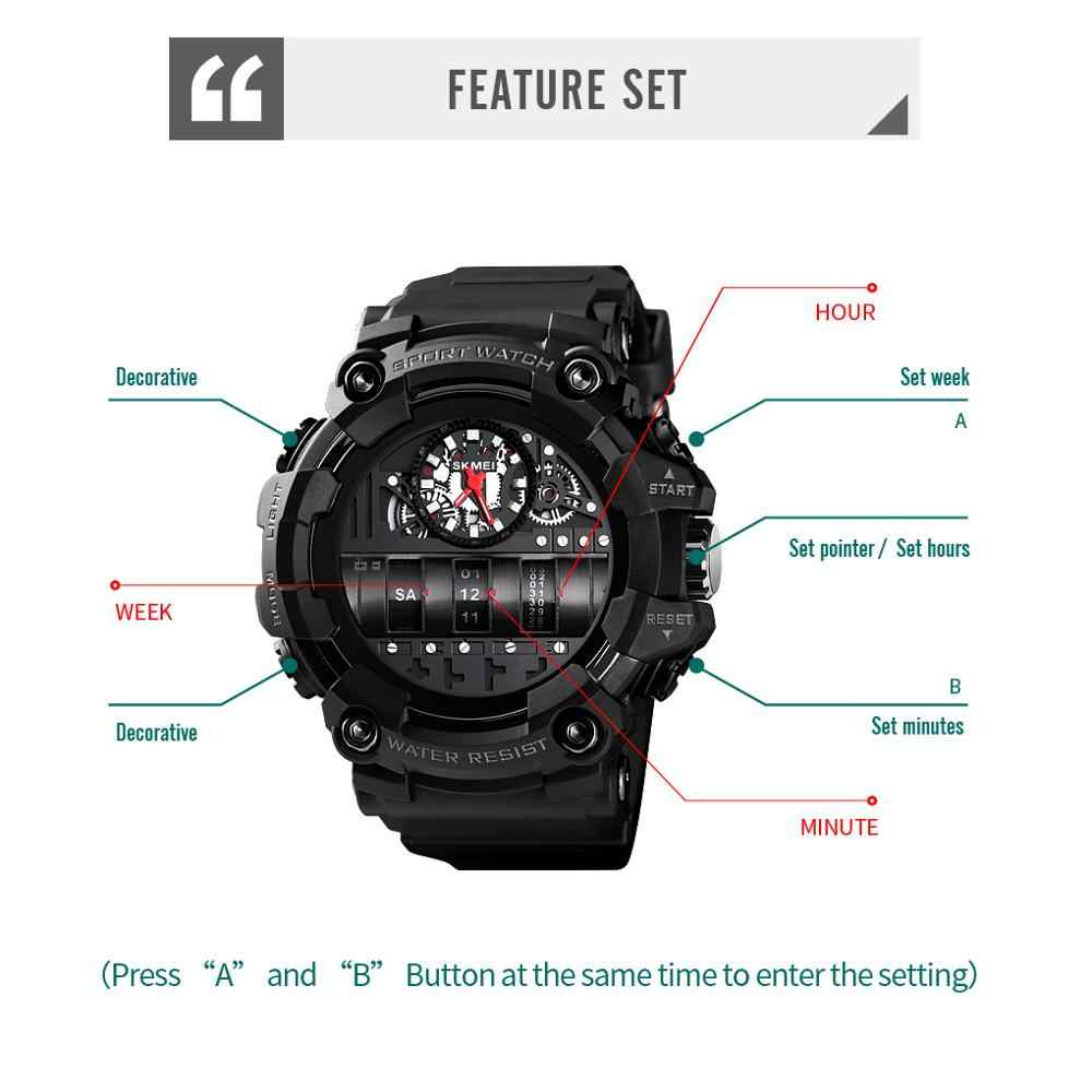 SKMEI יצירתיות גברים קוורץ שעונים למעלה מותג יוקרה זכר שעון 2 זמן לוח שנה Waterproof שעוני יד Relogio Masculino 1557