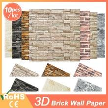 3D Wallpaper DIY Brick stone pattern Self-Adhesive Waterproof 3D Wall Stickers Kitchen Backsplash Bathroom Wall Tile Stickers