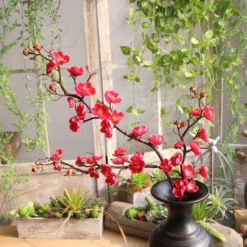 3 gałęzie 93cm długi kwiat śliwy sztuczne jedwabne kwiaty sztuczny kwiat śliwy na zimę wystrój pokoju DIY wystrój ślubu tanie i dobre opinie MicroPlush CN (pochodzenie) Plum blossom Sztuczne kwiaty Bukiet kwiatów Na Chiński Nowy Rok Jedwabiu