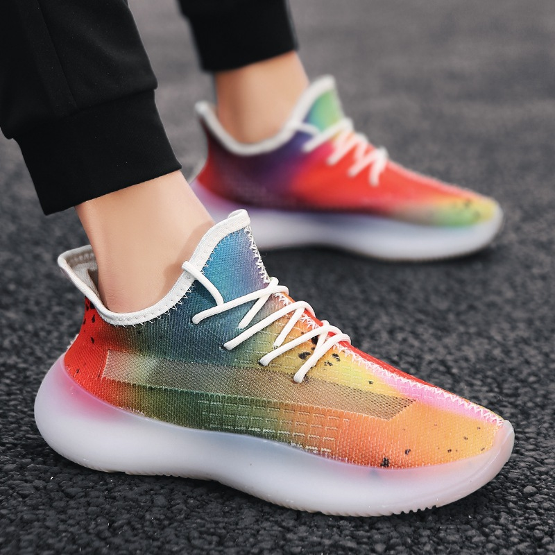 2020 Spring Summer New Style MEN'S SHOES Frith Coconut 350v3 Colorful Fashion Shoe Men Fly Woven Athletic Shoes Students