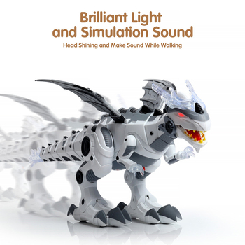 Electric Toy Large Format Walking Spray Dinosaur Robot With Light Sound Mechanical Dinosaurs Model Toy For Kids Children mighty electric walking with sound dinosaur toys animals model toys for kids