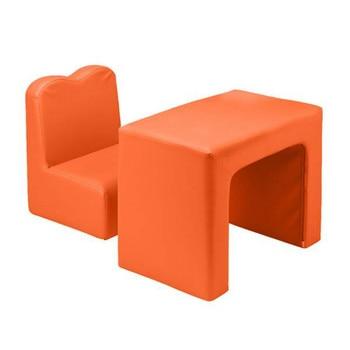 Children Sofa Orange Children's Sofa 2-In-1 Including 1 sofa and 1 table Special Princess Modern Style Furniture for Kids гарнитура dresscote hatsonic style 1 orange