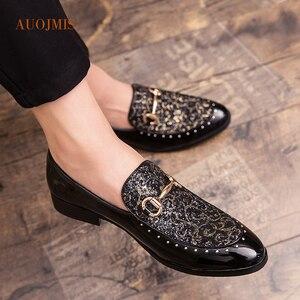Jesienne męskie buty 2019 nowa koreańska wersja trendu grochu buty męskie buty typu tide anglia buty na co dzień z motywem etnicznym mężczyzn zima