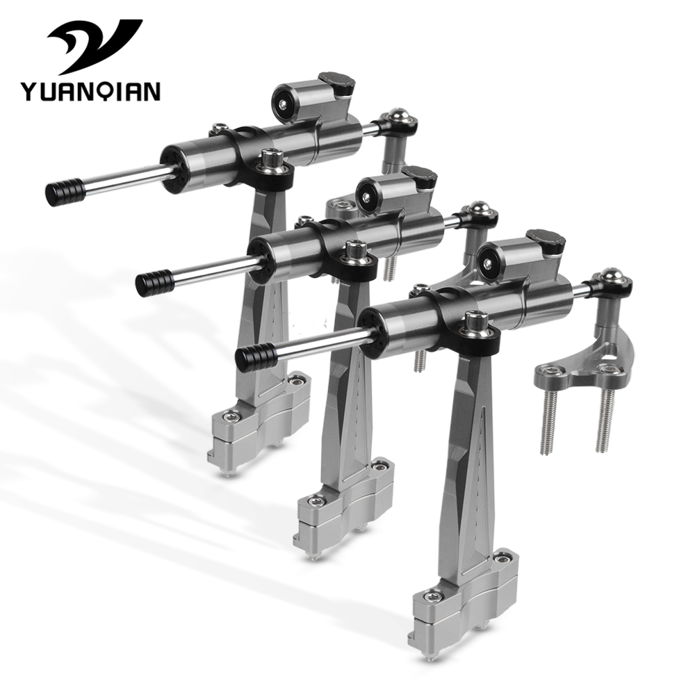 CNC Aluminum Adjustable Motorcycle Handlebar Steering Stabilize Damper Bracket Mount Kit Accessories FOR HONDA CB 650 F CB650F|Side Mirrors & Accessories| |  - title=
